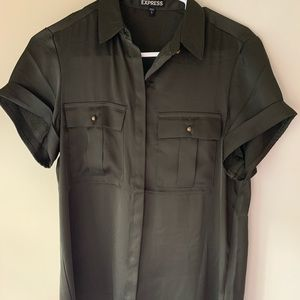 Express Olive Blouse